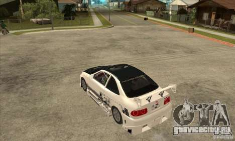 Honda Civic Tuning Tunable для GTA San Andreas вид сзади