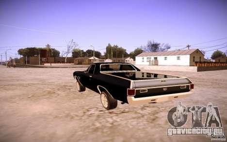 Chevrolet El Camino SS 1970 для GTA San Andreas вид справа