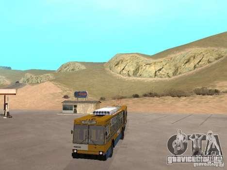 ЮМЗ Т1 для GTA San Andreas вид изнутри