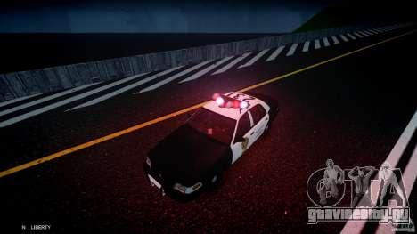 Ford Crown Victoria Raccoon City Police Car для GTA 4 вид снизу