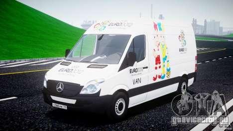 Mercedes-Benz Sprinter Euro 2012 для GTA 4 вид сзади
