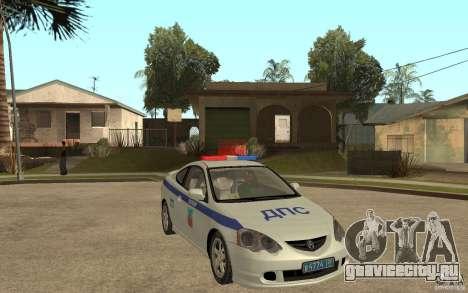 Acura RSX-S ДПС Barnaul City для GTA San Andreas вид сзади