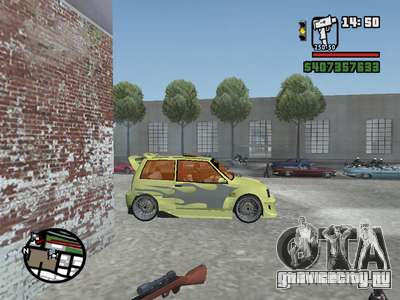 ОКА 1111 (Тюнинг) для GTA San Andreas вид сверху