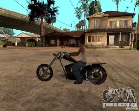 Diabolus Bike для GTA San Andreas вид сзади слева