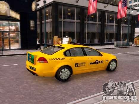Holden NYC Taxi V.3.0 для GTA 4 вид справа