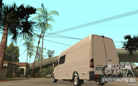 Mercedes-Benz Sprinter 313cdi для GTA San Andreas вид сзади слева