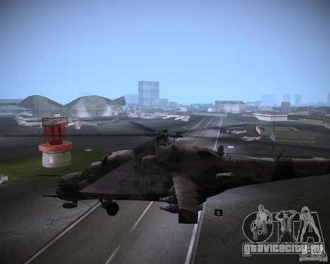 Ми-35 для GTA Vice City вид сзади
