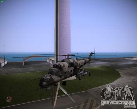 Ми-35 для GTA Vice City вид слева