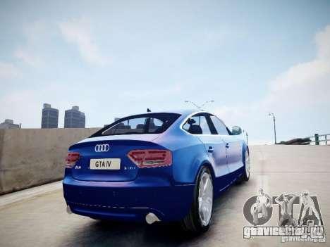 Audi A5 Sportback для GTA 4 вид слева