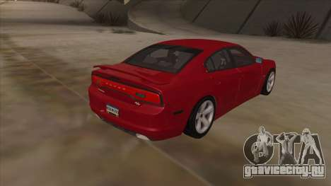 Dodge Charger RT 2011 V1.0 для GTA San Andreas вид сзади