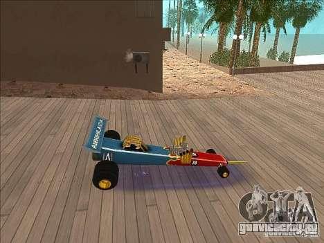 Dragg car для GTA San Andreas вид слева