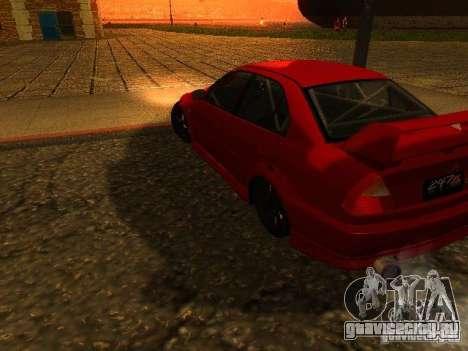 Mitsubishi Lancer Evolution VI GSR 1999 для GTA San Andreas вид слева