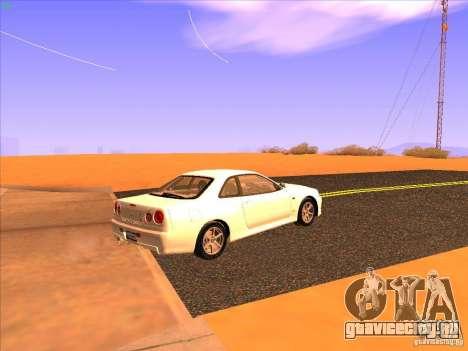 Nissan Skyline R34 Tunable для GTA San Andreas вид справа