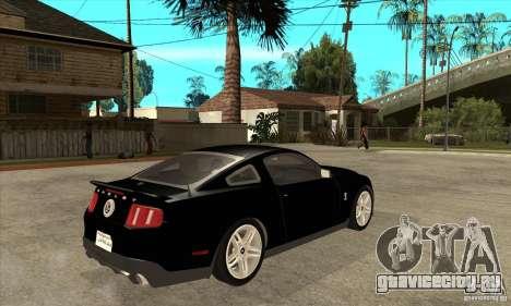 Ford Shelby GT 500 2010 для GTA San Andreas