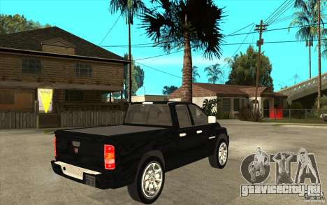 Dodge Ram 2500 2008 для GTA San Andreas вид справа
