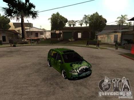 Volkswagen Touran The Hulk для GTA San Andreas вид справа