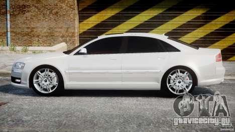 Audi S8 D3 2009 для GTA 4 вид слева