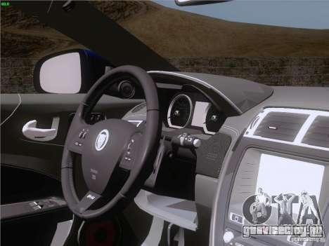Jaguar XKR-S 2011 V2.0 для GTA San Andreas салон