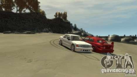 Mercedes-Benz 190E для GTA 4 вид справа