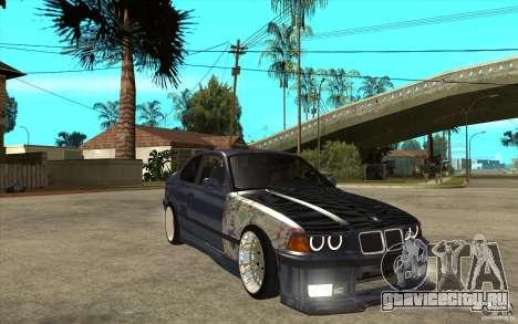 BMW E36 M3 Street Drift Edition для GTA San Andreas вид сзади