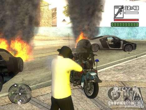 Black Helmet для GTA San Andreas третий скриншот