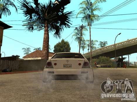 Lexus IS300 NFS Carbon для GTA San Andreas вид сзади слева