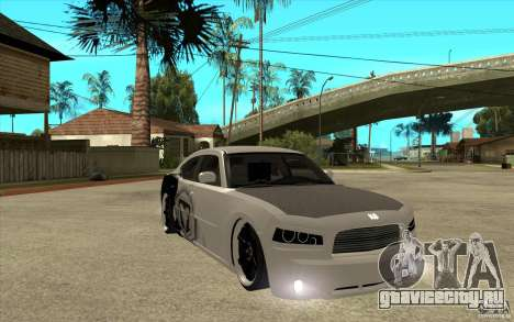 Dodge Charger SRT8 Tuning для GTA San Andreas вид сзади