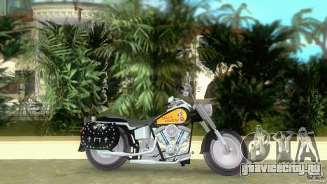 Harley Davidson FLSTF (Fat Boy) для GTA Vice City вид слева