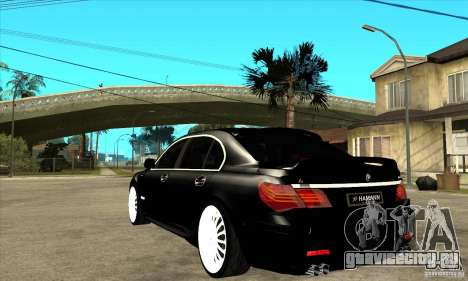 BMW 7-er F02 HAMANN 2010 для GTA San Andreas вид сзади слева
