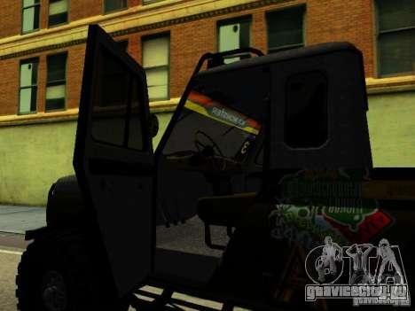 УАЗ 469 ТРИАЛ для GTA San Andreas вид сзади