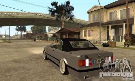 BMW E30 325i Cabrio 1989 для GTA San Andreas вид сзади слева