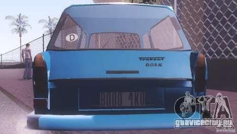 Trabant 601S для GTA San Andreas вид справа