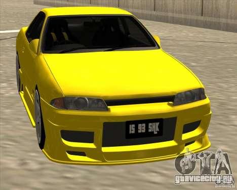 Nissan Skyline R32 Bee R для GTA San Andreas вид сзади