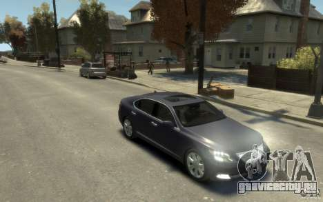 Lexus LS 600h L v1.1 для GTA 4 вид сзади