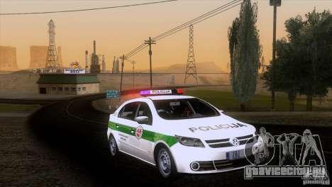 Volkswagen Voyage Policija для GTA San Andreas вид сзади слева