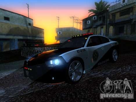Dodge Charger SRT8 Police для GTA San Andreas вид сзади