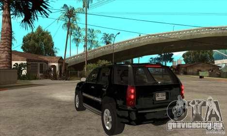 GMC Yukon 2008 для GTA San Andreas вид сзади слева