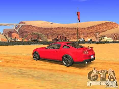 Ford Shelby GT500 для GTA San Andreas вид сзади слева