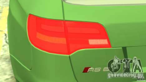 Audi RS6 Avant 2010 Stock для GTA 4 вид изнутри