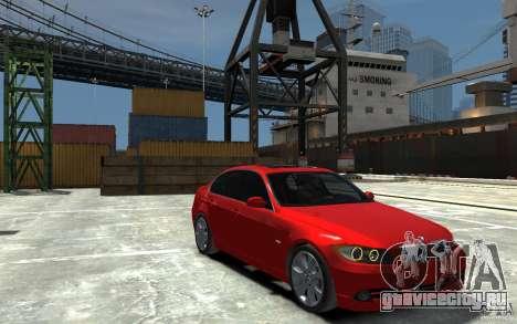 BMW 330i E90 для GTA 4 вид сзади