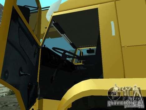 КамАЗ 65117 Ивановец для GTA San Andreas вид изнутри