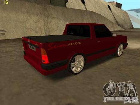 Volkswagen Saveiro Summer для GTA San Andreas вид сзади слева