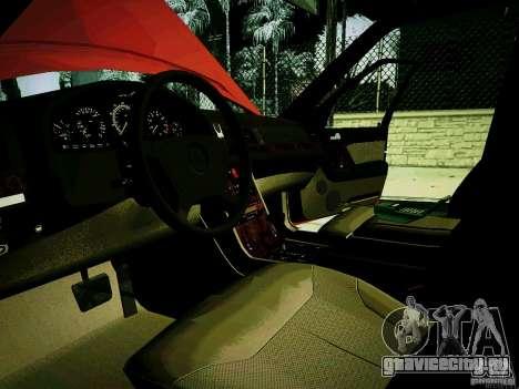 Mercedes-Benz S-Class W140 для GTA San Andreas вид сзади