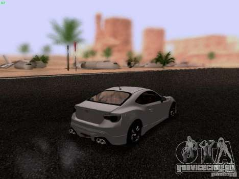 Toyota 86 TRDPerformanceLine 2012 для GTA San Andreas вид сзади слева