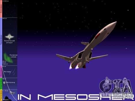 Полёт в мезосферу для GTA San Andreas