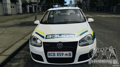 Volkswagen Golf 5 GTI South African Police [ELS] для GTA 4 вид сбоку