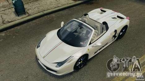 Ferrari 458 Spider 2013 v1.01 для GTA 4 салон