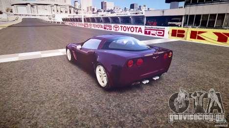 Chevrolet Corvette C6 Z06 для GTA 4 вид сбоку