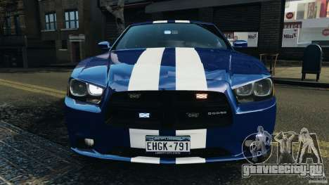 Dodge Charger Unmarked Police 2012 [ELS] для GTA 4 салон