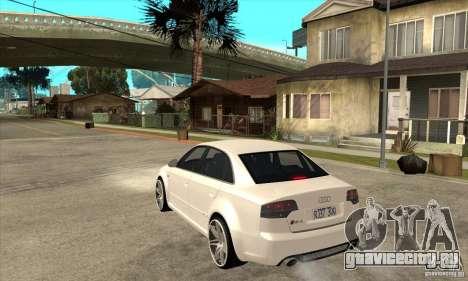Audi RS4 2006 v2 для GTA San Andreas вид сзади слева